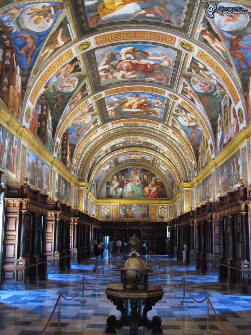 El Escorial, interior, bóveda