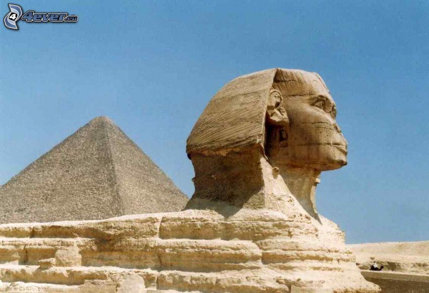 esfinge, pirámide