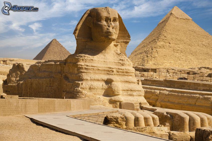 esfinge, pirámides