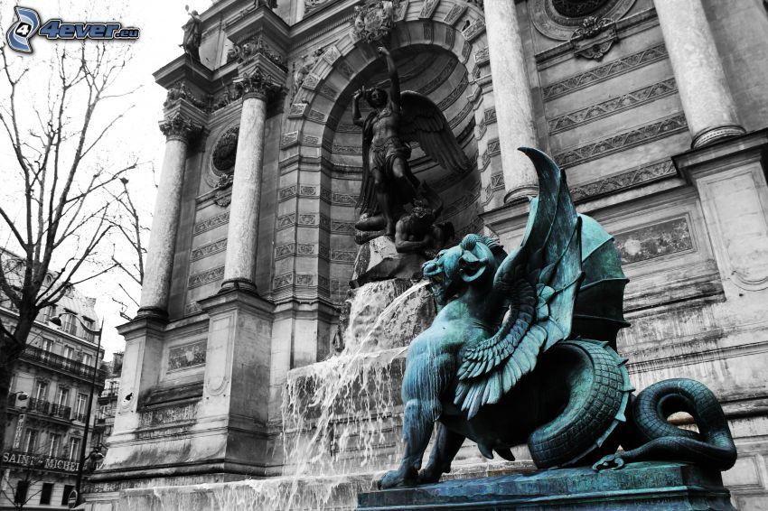 fuente Saint-Michel, París, Francia