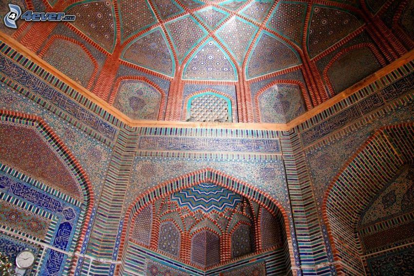 interior del Taj Mahal, techo