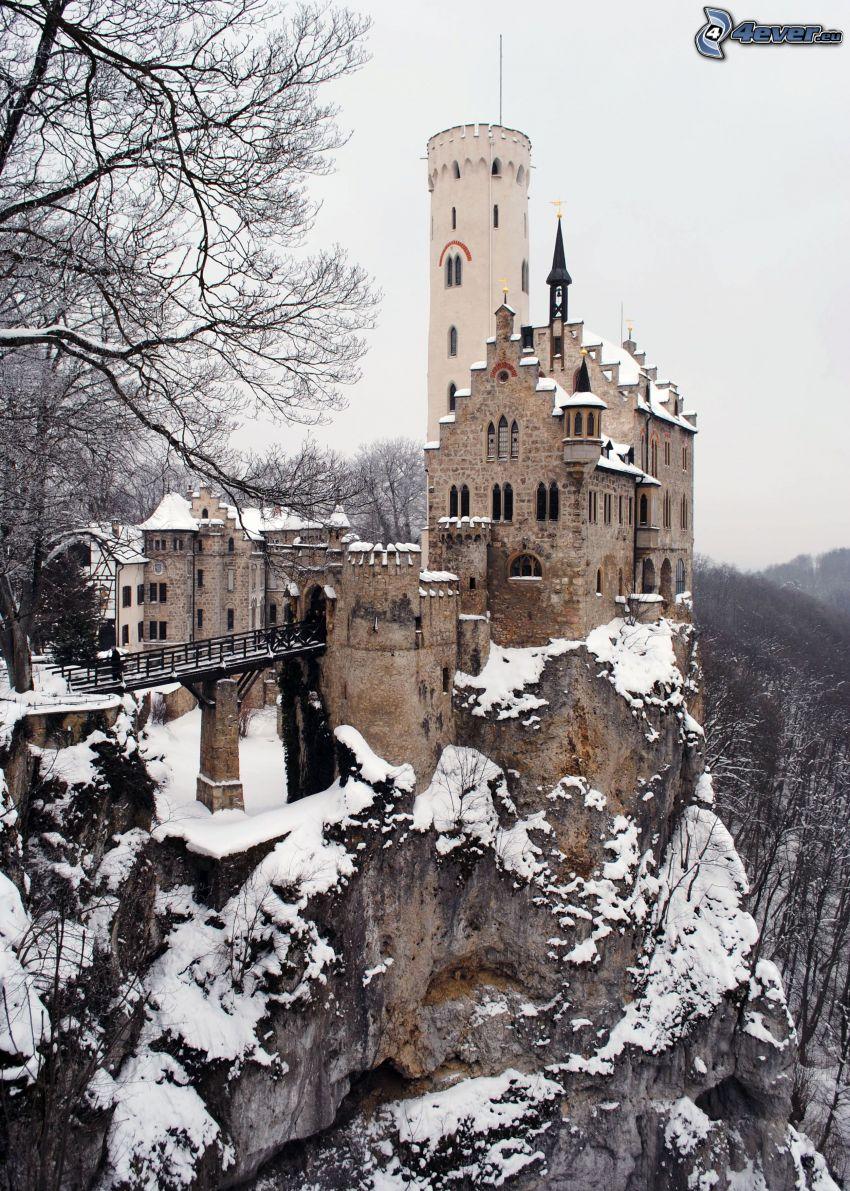 Lichtenstein Castle, nieve