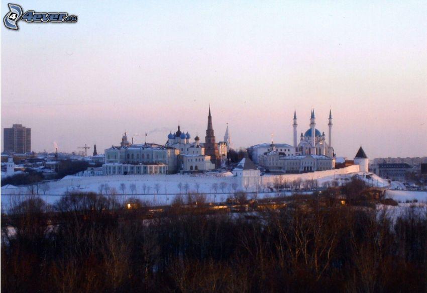 mezquita, nieve