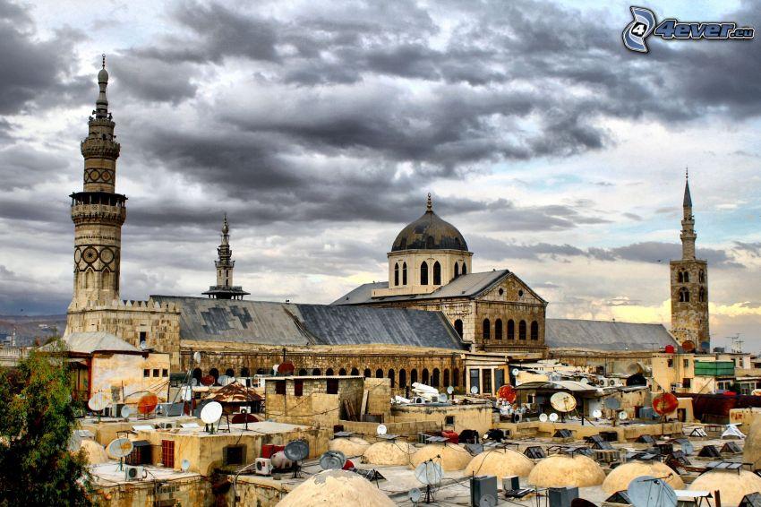 mezquita, nubes