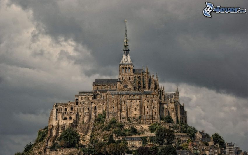Mont Saint-Michel, abadía, Francia
