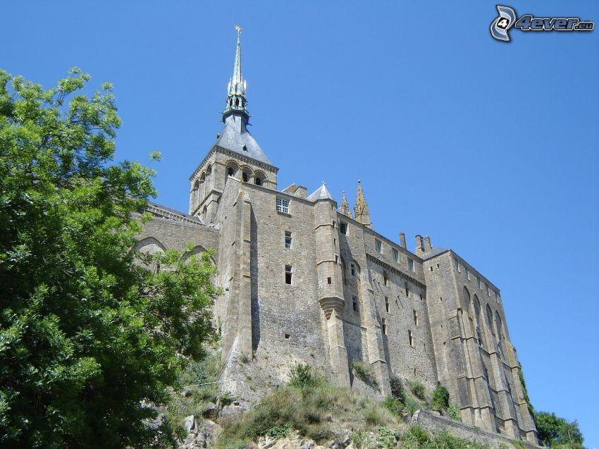 Mont Saint-Michel, castillo, fortificación, abadía
