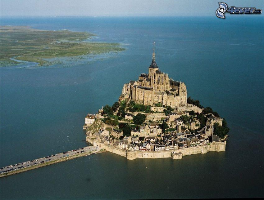 Mont Saint-Michel, Francia, abadía, monasterio, mar