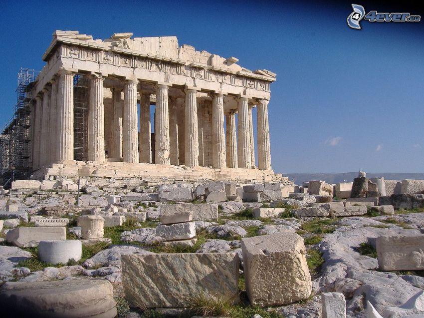 Partenón, Atenas, rocas