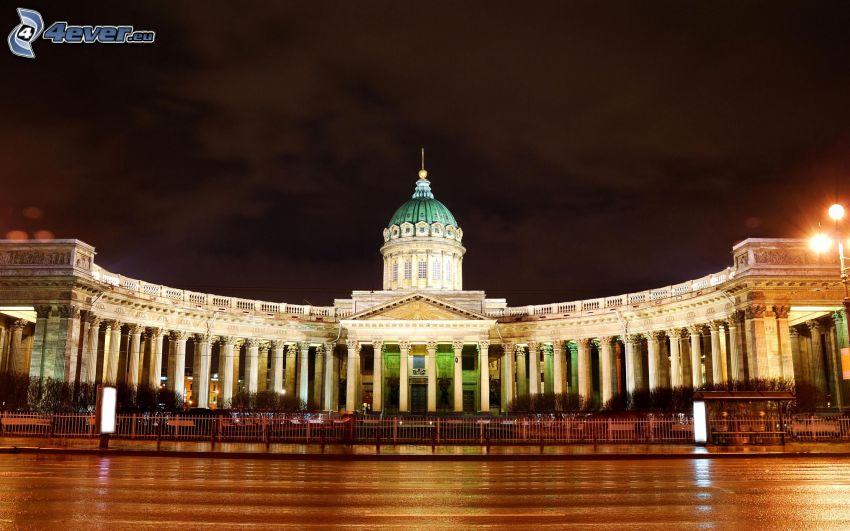 Petersburgo, Rusia, noche, iluminación