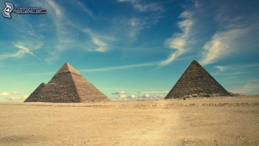 pirámides, cielo