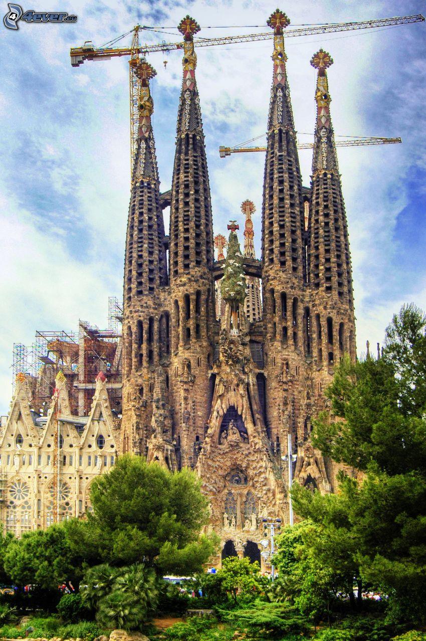 Sagrada Familia, grúa