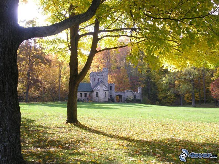 Squire's Castle, bosque de otoño
