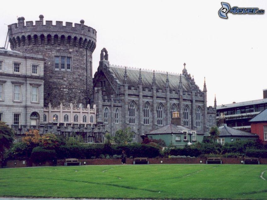 templo, Dublín, césped