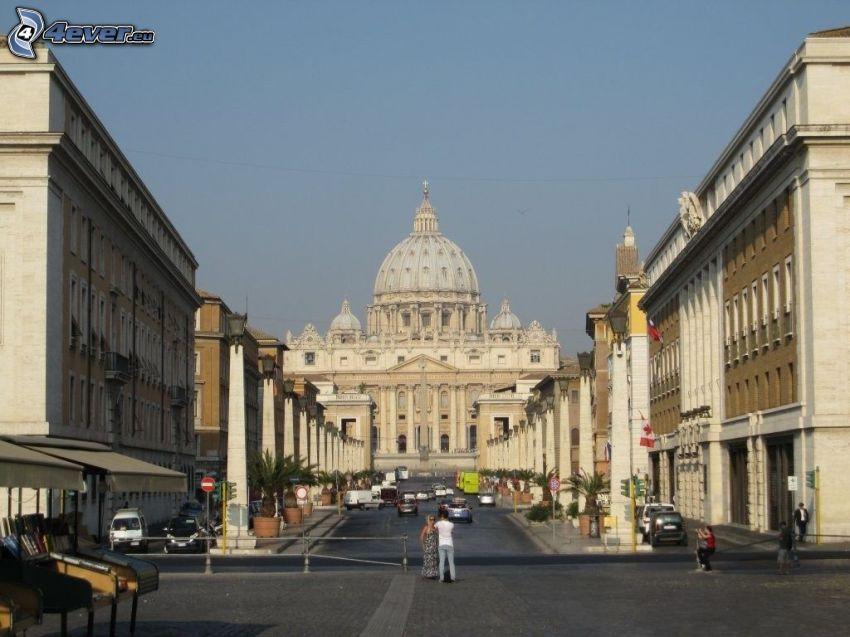 templo, Roma, Italia, plaza