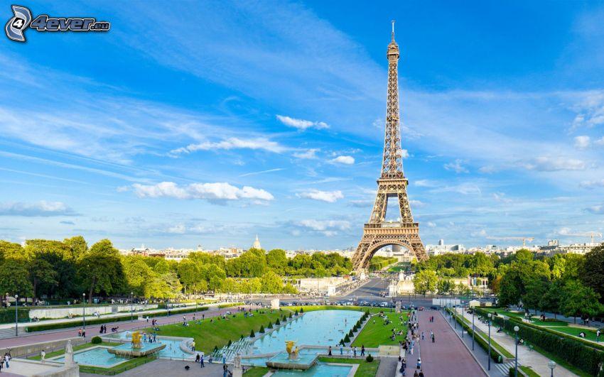 Torre Eiffel, plaza