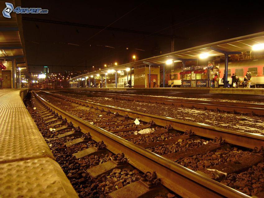 La estación de tren, carril, Bratislava