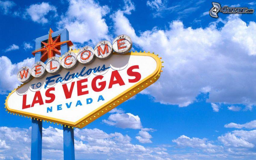 Las Vegas, tablero, nubes