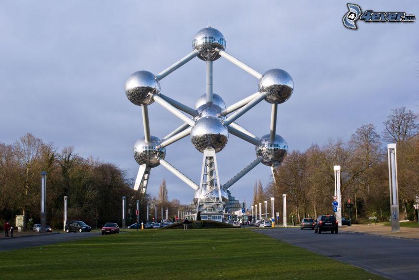 Atomium, Bruselas, camino