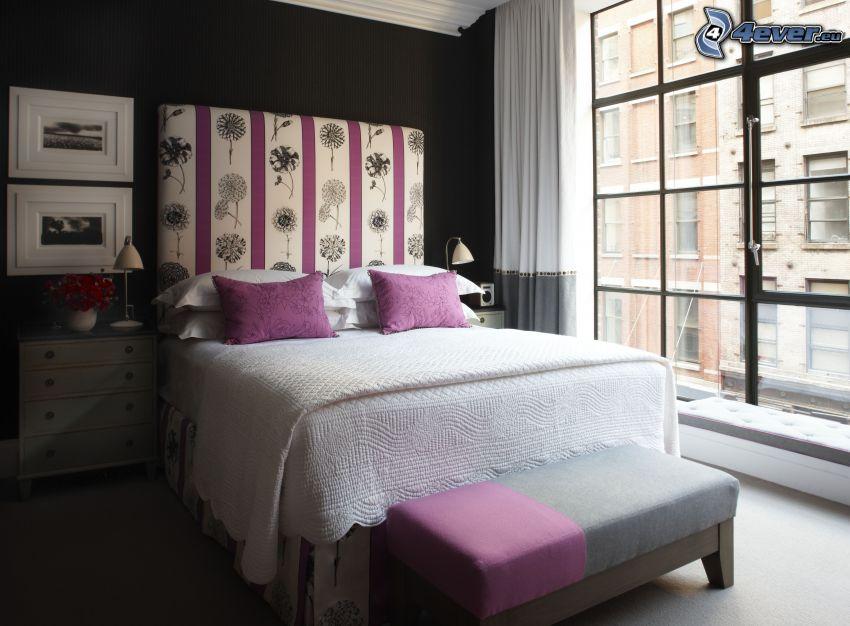 cama doble, dormitorio