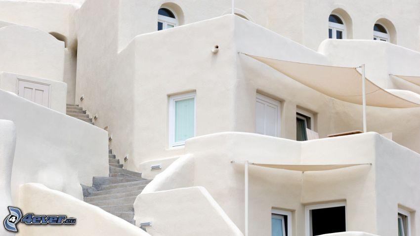 casa, escalera