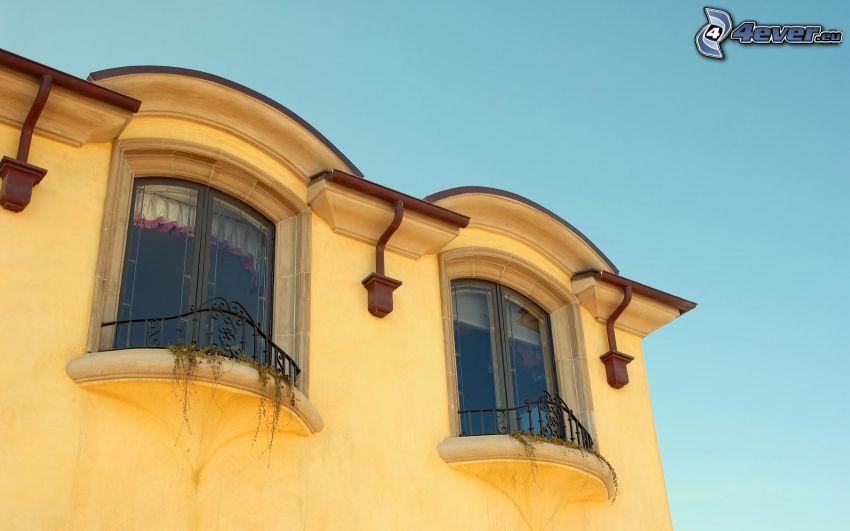 casa, ventanas