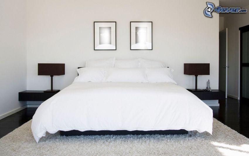 dormitorio, cama doble, imágenes