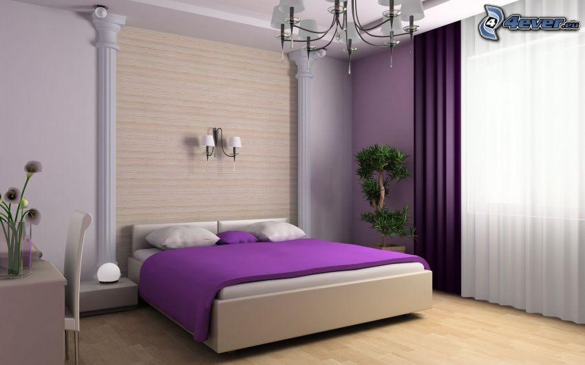 dormitorio, cama doble