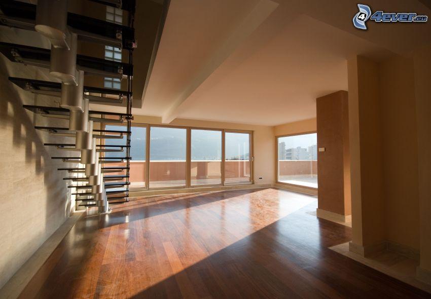 habitación, escalera