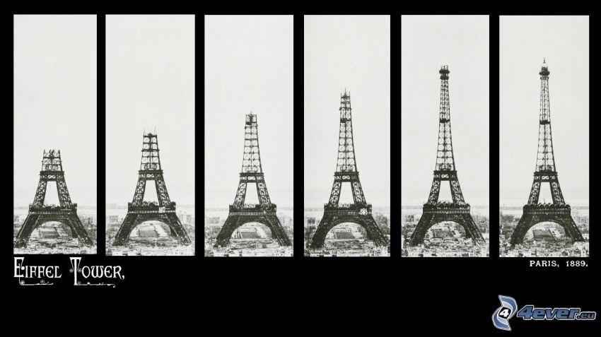 Torre Eiffel, construcción, 1889