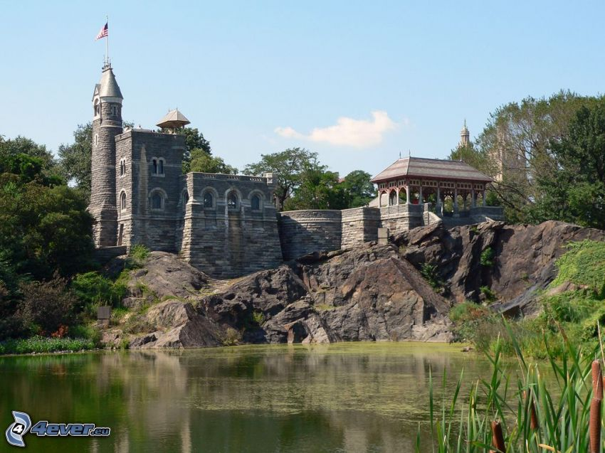 Castillo Belvedere, lago, Central Park, New York