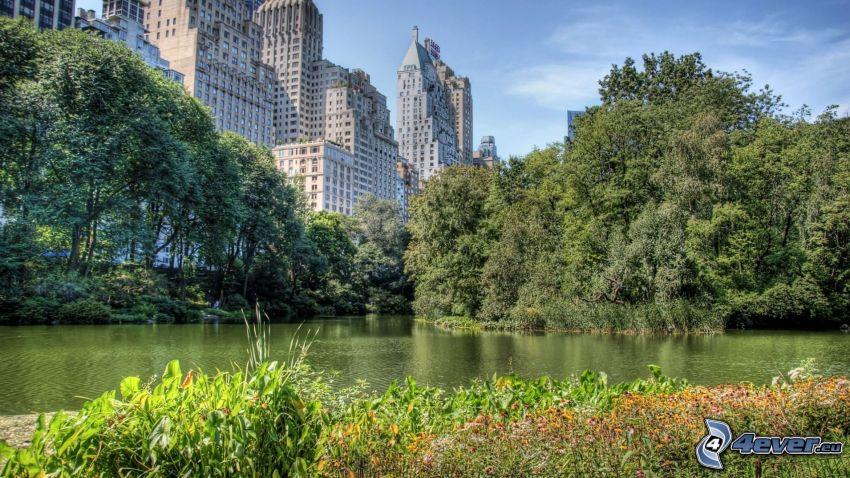 Central Park, New York, rascacielos