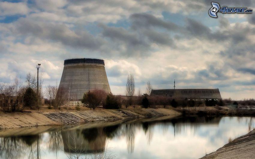 planta de energía nuclear, Chernobyl, nubes