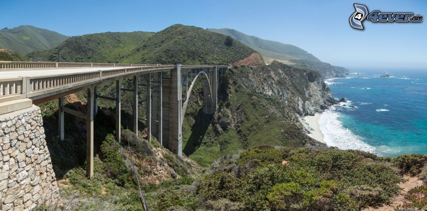 Bixby Bridge, Alta Mar