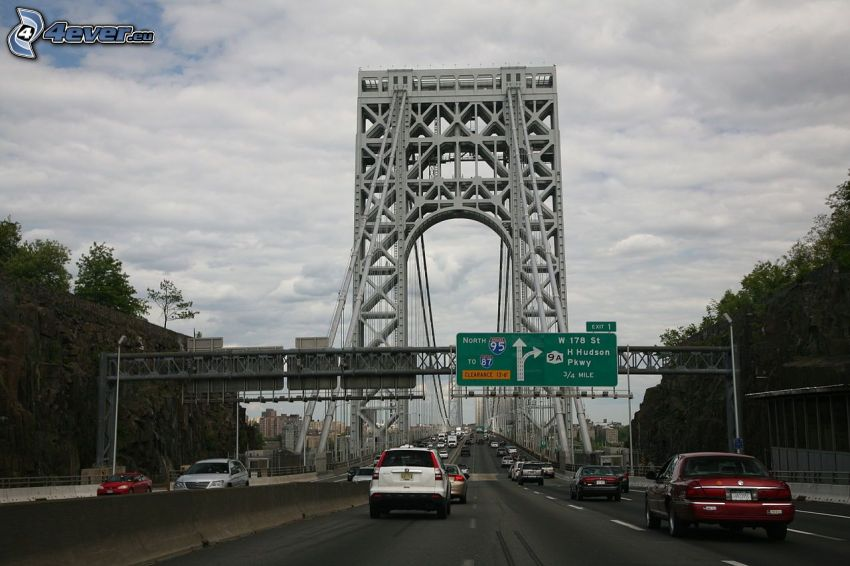 George Washington Bridge, carretera
