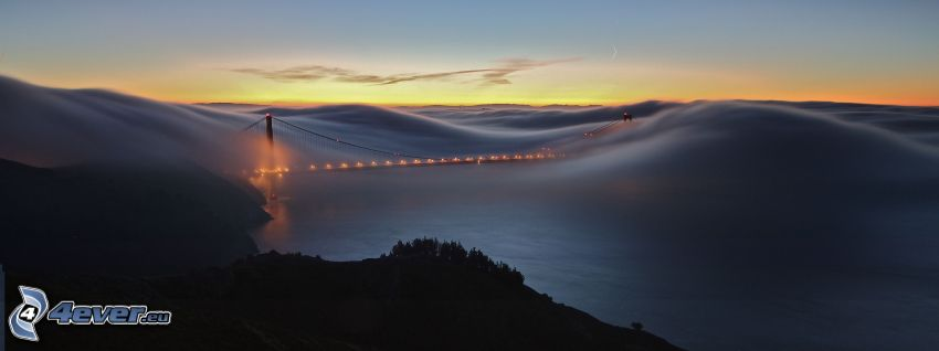 Golden Gate, inversión térmica