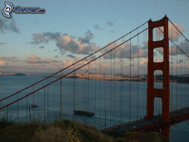Golden Gate, San Francisco, puente, mar