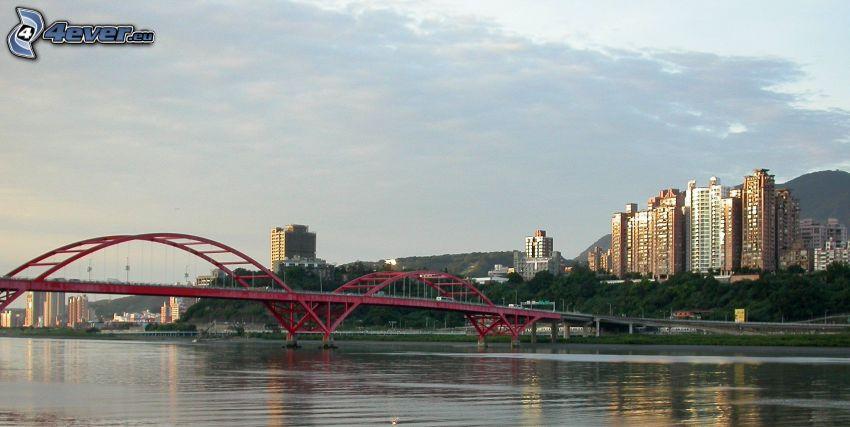Guandu Bridge, rascacielos