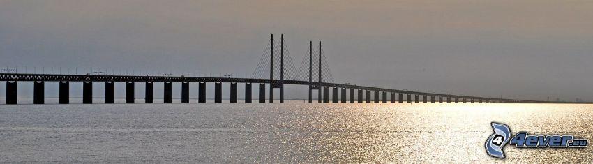 Øresund Bridge, reflejo del sol