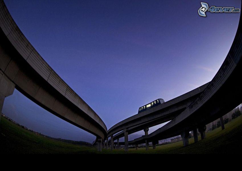 puente, autobús