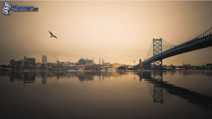 puente, USA, atardecer