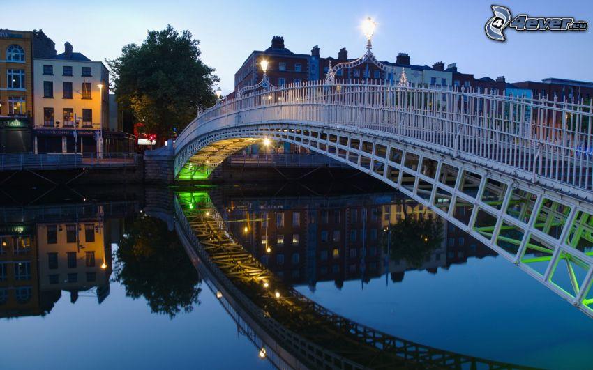 puente peatonal, Dublín, río