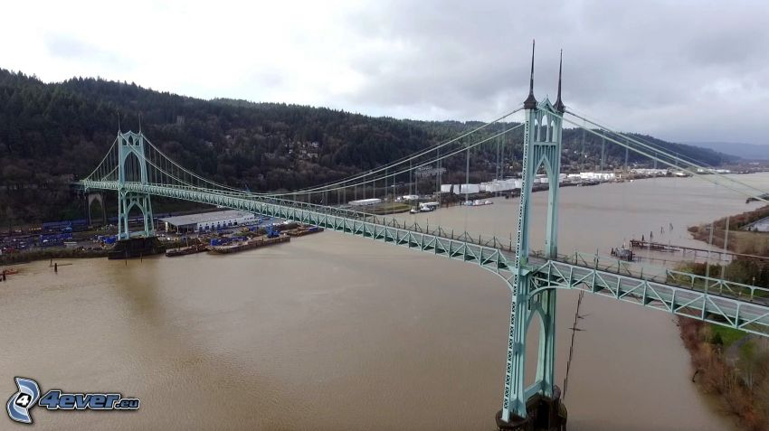 puente St. Johns, Willamette, sierra