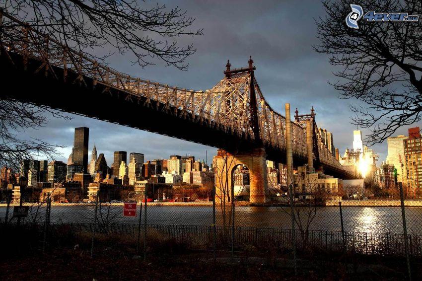 Queensboro bridge, New York, rascacielos