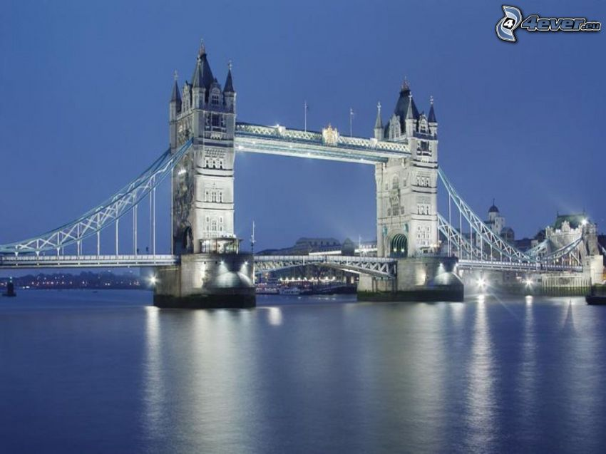 Tower Bridge, puente, Londres, Río Támesis