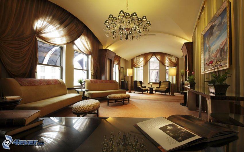 salón lujoso, asiento