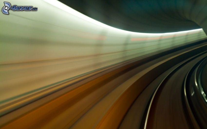 túnel, carril