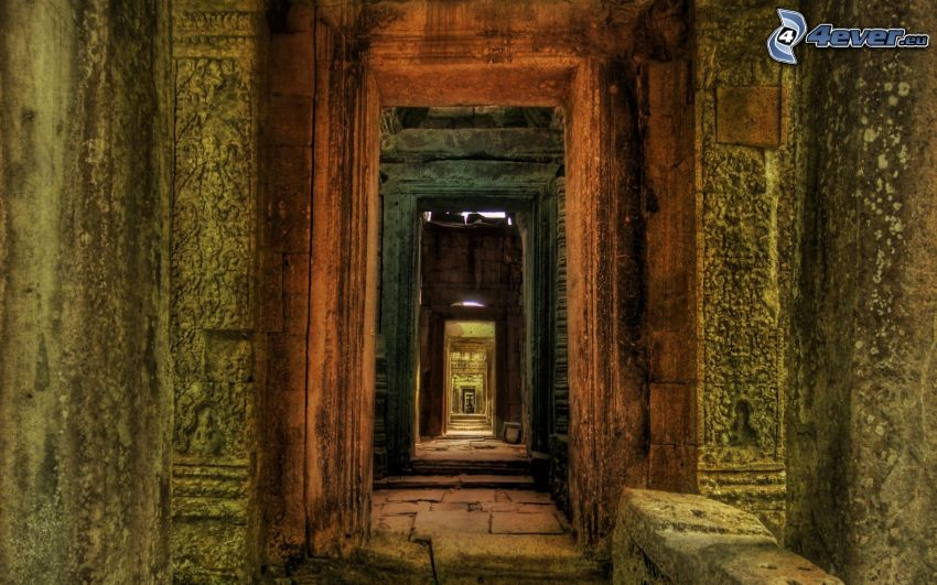 túnel, puerta