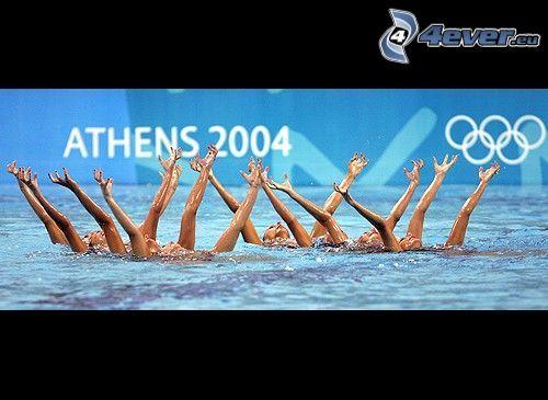 Atenas, 2004, aquabella, natación sincronizada