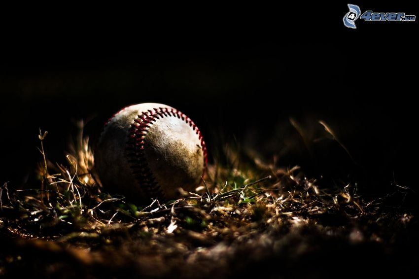 baseball, hierba