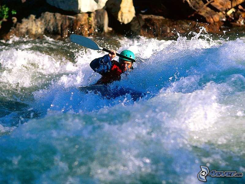 canoa, aguas bravas